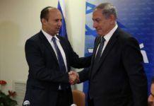Statsminister Benjamin Netanyahu og utdanningsminister Naftali Bennett . (Foto: Likud)