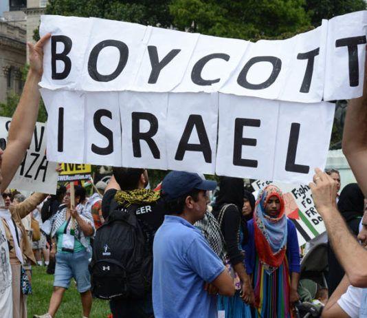BDS-tilhengere demonstrerer i Washington DC. (Illustrasjonsfoto: Stephen Melkisethian / Flickr.com / CC)