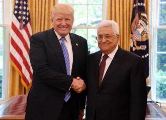 Donald Trump og Mahmoud Abbas i Det hvide Hus 3. maj 2017. Nu er forholdet mellem dem iskoldt. (Foto: Facebook)