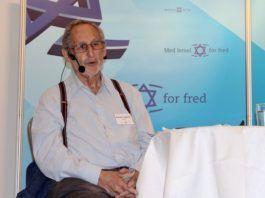 Den israelske forfatter Benjamin Pogrund var sidste taler på MIFFs Israelkonference. (Foto: Bjarte Bjellås)