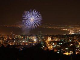 Fyrværkeri over Haifa på Uafhængighedsdagen. (Illustrationsfoto: Reut C, flickr.com)