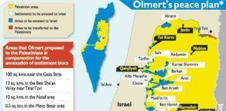 Dette kort blev forkastet af PA-præsident Mahmoud Abbas i forhandlingerne mellem Israel og de palæstinensiske selvstyremyndigheder i efteråret 2008. Abbas nægtede at skrive under på en aftale, hvor palæstinenserne frasagde sig alle fremtidige territorielle krav.