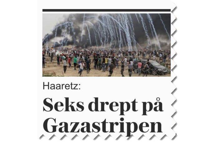 Screen-shot fra forsiden af vg.no søndag 6. mai 2018.