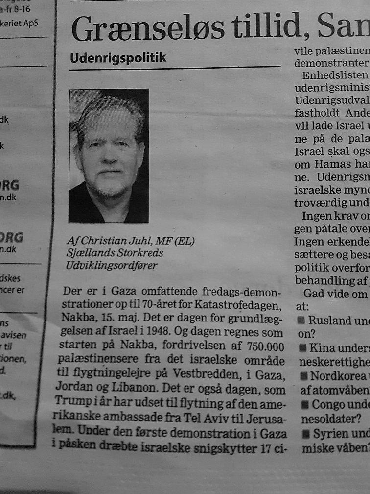 Christian Juhls debatindlæg 2018-05-07