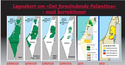 """Starten på MIFFs rettelser til løgnekortene om """"Det forsvindende Palæstina"""""""