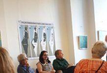 """Publikum til panel-diskussion af bl.a. """"Naqba""""/""""Nakba"""" bliver hypnotiseret ved hjælp af den ikoniske misvisende kortserie om """"Det forsvindende Palæstina"""""""