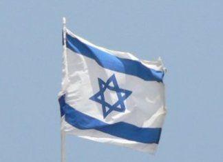 Israels flag ved havet