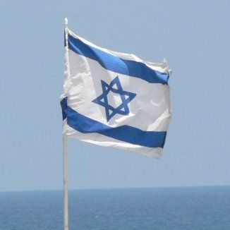 Israels flag ved havet