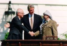 Arafat, Clinton, Rabin September 1993.