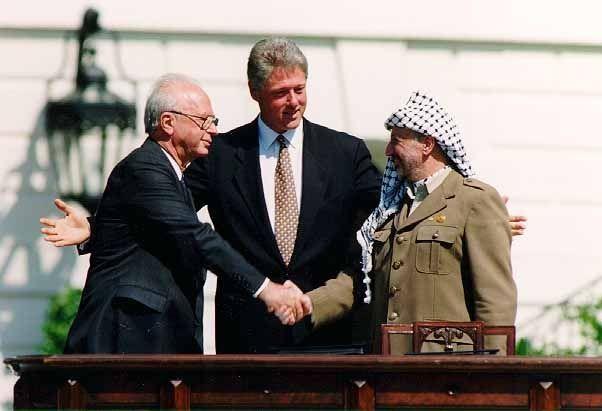 Arafat, Clinton, Rabin September 1993.