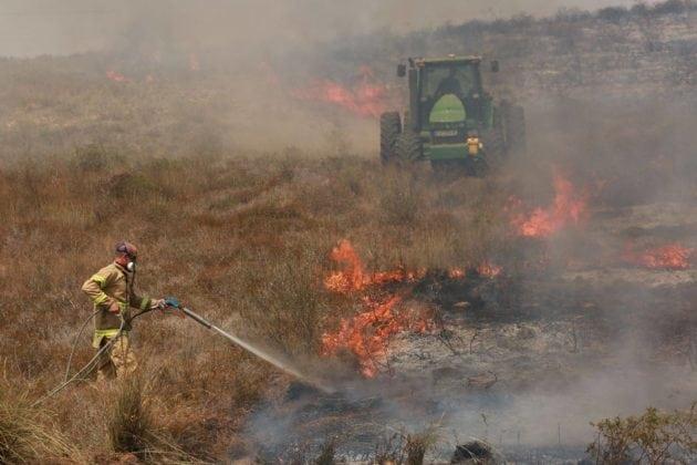 Store områder i det sydlige Israel er blevet sat i brand af terrorister på Gazastriben (Foto: Ofer Levy/Facebook)