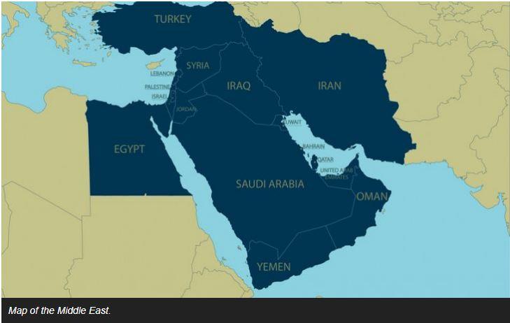 Middle East (World-Atlas.com)