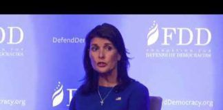 Nikki Haley, US ambassadør til FN, ved FDD Summit 28 august 2018 (Youtube)