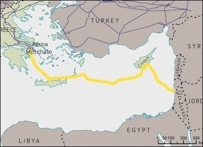 Energitrekanten Cypern, Grækenland, Israel