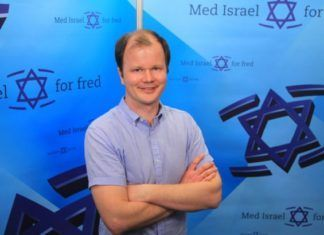 Conrad Myrland er daglig leder og ansvarlig redaktør i Med Israel for fred. (Foto: MIFF)