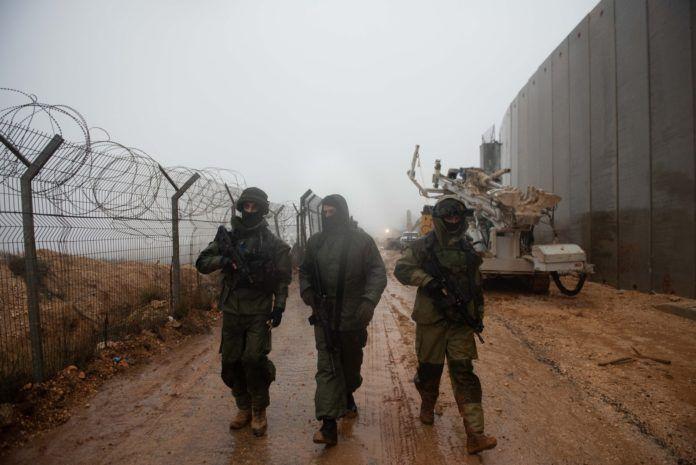 Israelske tropper søger langs den nordlige grænse efter en grænseoverskridende Hezbollah angrebstunnel fra Sydlibanon (foto: IDF 2018-12-08)