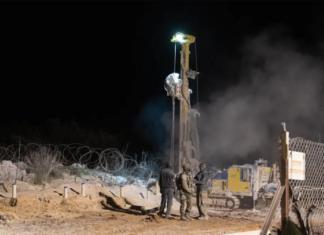 Femte Hezbollah Tunnel fundet og ødelagt af IDF - Operation Northern Shield - 2018-12-26 (foto: IDF Talsmandsenhed)