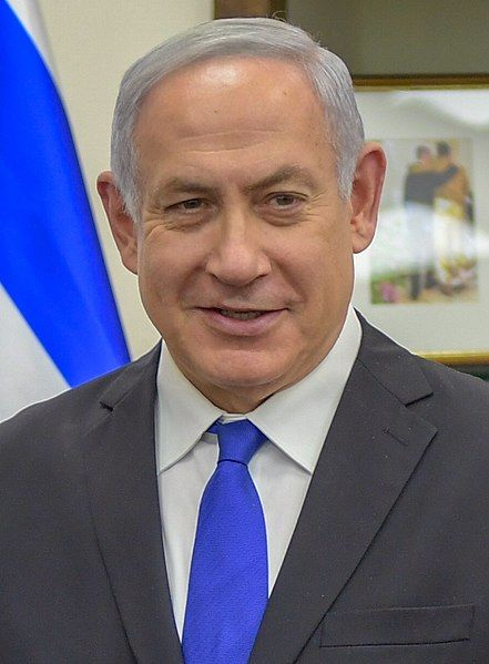 Benjamin Netanyahu, 2018 (kilde US State Department via Flickr and Wikimedia Commons https://commons.wikimedia.org/wiki/File:Benjamin_Netanyahu_2018.jpg)