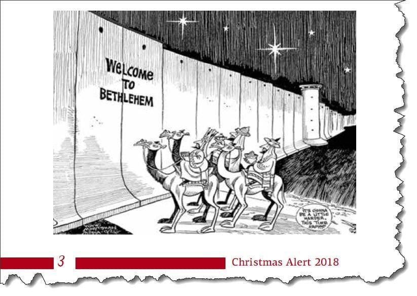 Billede fra Kairos Palestine Christmas Alert 2018.