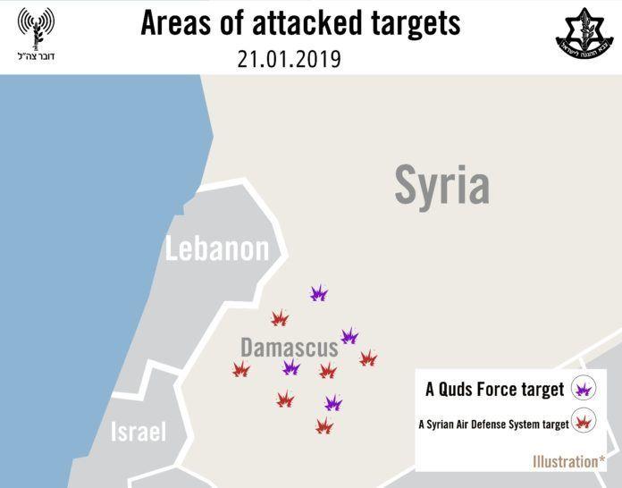 Beliggenhed af mål (IDF foto)