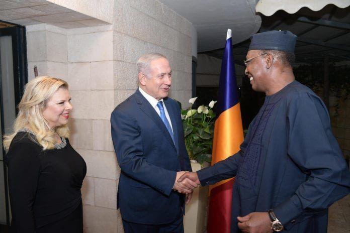 Benjamin Netanyaho tog imod Chads præsident Idriss Déby i Jerusalem i november 2018 (Foto: Amos Ben Gershom/Flickr)