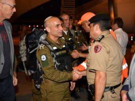 Mission til Brasilien med bl.a. redningspersonale, ingeniører og læger, (Foto: IDF Spokesman)