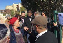 Palæstinensiske og israelske fredsaktivister besøgte Ansbacher-familien i bosættelsen Tekoa, Judea (Vestbreddens sydlige del) - (Foto: Tag Meir)