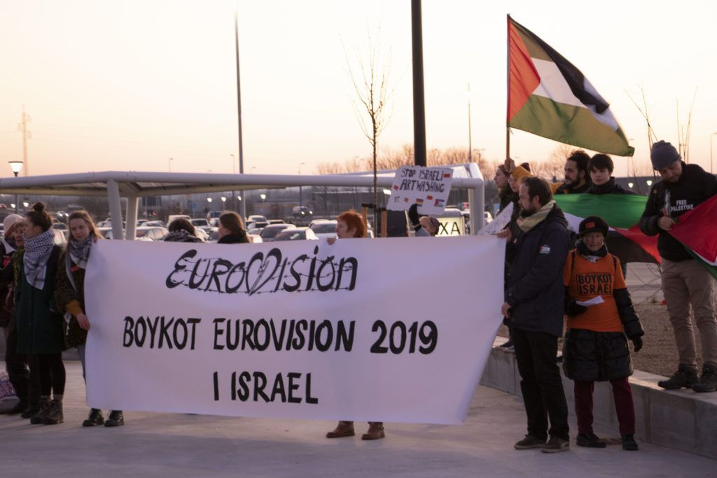 Boycot Eurovision 2019, Boykot Israel (Herning, 2019-02-23 Privatfoto)