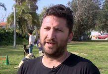 Leder af Israel Service Dogs, Ilan Frumkin (screen shot fra i24 video)