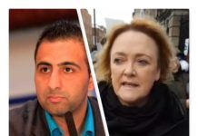 Kasim Hafeez; Jackie Goodall (foto-collage fra private og Facebook billeder)