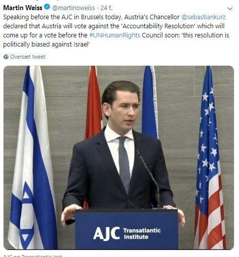"""Østrig siger NEJ til """"accountability resolution"""" L25 uanset hvilket punkt der stemmes under!"""