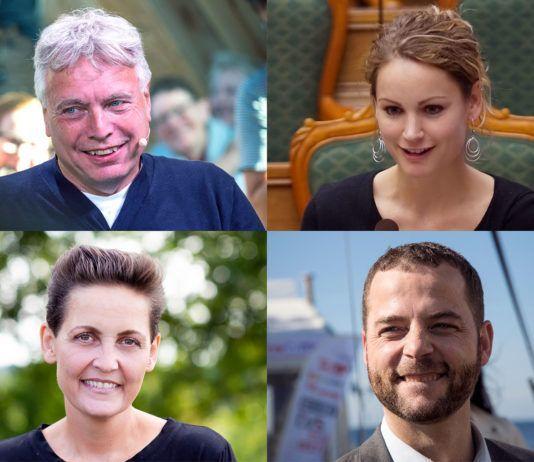 Uffe Elbæk (Alternativet), Pernille Skipper (Enhedslisten), Pia Olsen Dyhr (SF) og Morten Østergaard (Radikale Venstre). (Foto: News Øresund – Johan Wessman, Mogens Engelund, William Vest-Lillesøe, News Øresund – Johan Wessman)