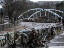 Oversvømmelse i Poldokhtar, Irans Lorestan-provins, den 2. april 2019. (Billedkilde: Hamid Vakili/Mehr News/Wikimedia Commons)
