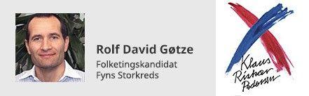 Rolf Gøtze - Folketingskandidat for Partiet Klaus Riskær Pedersen - har svaret på vores spørgsmål (Foto: privat)